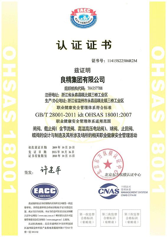 GBT28001-2011-OHSAS18001-2007